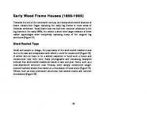 Early Wood Frame Houses ( )