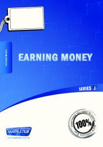 Earning Money EARNING MONEY