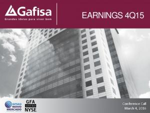 EARNINGS 4Q15 Conference Call March 4, 2016