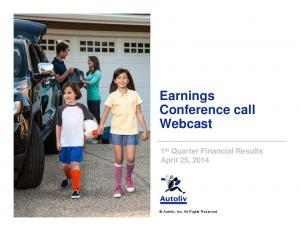 Earnings Conference call Webcast