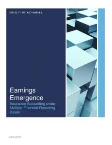 Earnings Emergence Insurance Accounting under Multiple Financial Reporting Bases