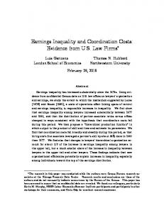 Earnings Inequality and Coordination Costs: Evidence from U.S. Law Firms