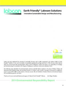 Earth Friendly Labware Solutions
