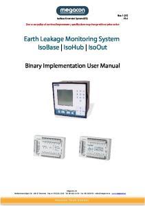 Earth Leakage Monitoring System IsoBase IsoHub IsoOut