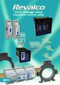 EARTH LEAKAGE RELAYS INSULATION CONTROL RELAY