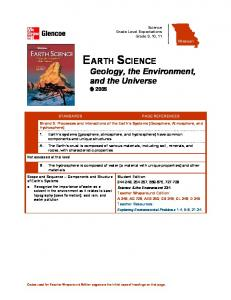 EARTH SCIENCE Geology, the Environment, and the Universe 2005