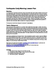 Earthquake Early Warning Lesson Plan