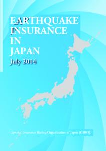 EARTHQUAKE INSURANCE IN JAPAN