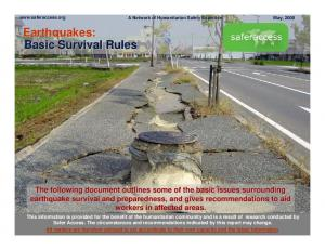 Earthquakes: Basic Survival Rules