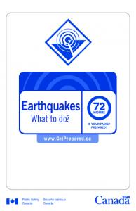 Earthquakes. What to do?