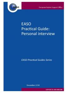 EASO Practical Guide: Personal interview