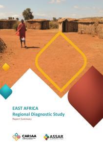 EAST AFRICA Regional Diagnostic Study Report Summary