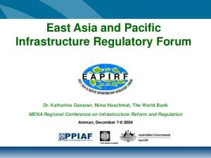 East Asia and Pacific Infrastructure Regulatory Forum