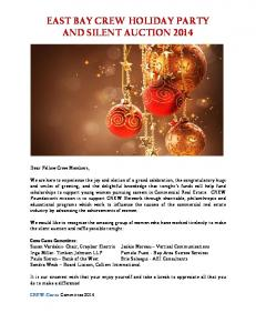 EAST BAY CREW HOLIDAY PARTY AND SILENT AUCTION 2014