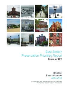 East Boston Preservation Priorities Report. December 2011