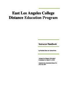 East Los Angeles College Distance Education Program