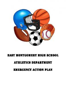 East Montgomery High School. Athletics Department. Emergency Action Plan