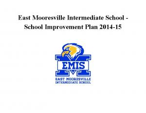 East Mooresville Intermediate School School Improvement Plan