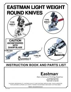 EASTMAN LIGHT WEIGHT ROUND KNIVES