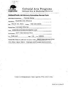 EastSide Arts Alliance and Cultural Center 2277 International Blvd, Oakland CA FB: East Side Arts Alliance