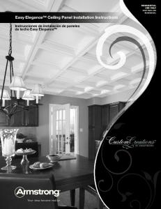 Easy Elegance Ceiling Panel Installation Instructions