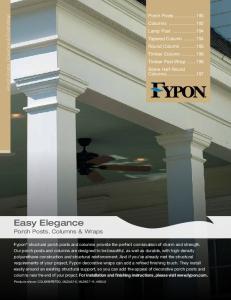 Easy Elegance. Porch Posts, Columns & Wraps