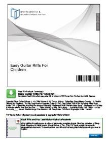 Easy Guitar Riffs For Children