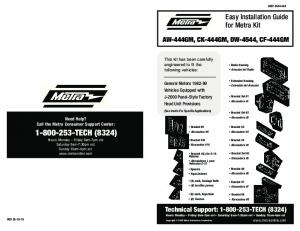 Easy Installation Guide for Metra Kit