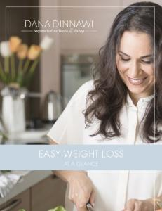 EASY WEIGHT LOSS AT A GLANCE EASY WEIGHT LOSS