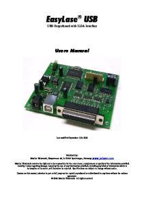 EasyLase USB USB-Outputboard with ILDA-Interface