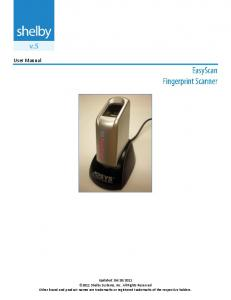 EasyScan Fingerprint Scanner User Manual