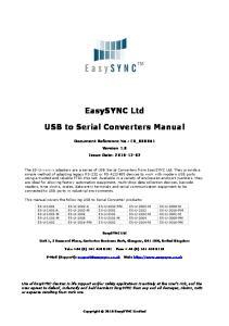 EasySYNC Ltd. USB to Serial Converters Manual