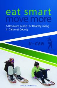 eat smart move more A Resource Guide For Healthy Living In Calumet County