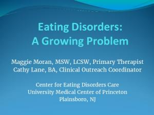 Eating Disorders: A Growing Problem