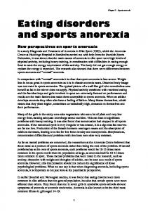 Eating disorders and sports anorexia