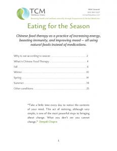 Eating for the Season