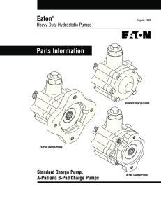 Eaton Heavy Duty Hydrostatic Pumps