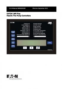 EATON LMR Plus Electric Fire Pump Controllers