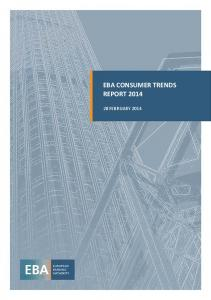EBA CONSUMER TRENDS REPORT 2014