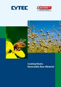 EBECRYL TM. Renewable Raw Material. Energy Curable Renewable Raw Material