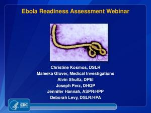 Ebola Readiness Assessment Webinar