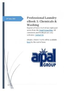 ebook 1: Chemicals & Washing