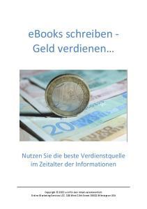 ebooks schreiben - Geld verdienen