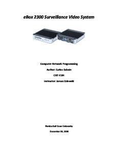ebox 2300 Surveillance Video System