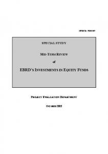 EBRD S INVESTMENTS IN EQUITY FUNDS