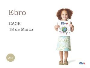 Ebro. CAGE 18 de Marzo