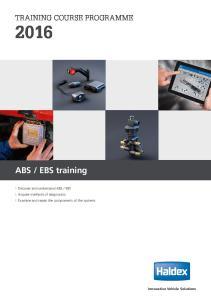 EBS training TRAINING COURSE PROGRAMME