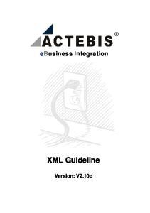ebusiness Integration XML Guideline Version: V2.10c