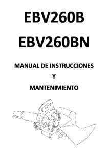 EBV260B EBV260BN MANUAL DE INSTRUCCIONES Y MANTENIMIENTO