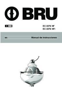 EC 2276 NF EC 2276 NFI. Manual de instrucciones